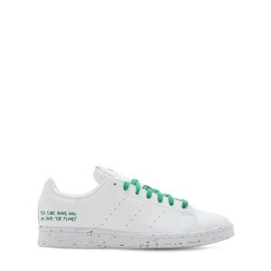 adidas OriginalsSTAN SMITH 绿色鞋带小白鞋
