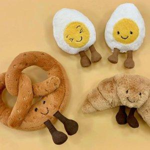 超萌表情水煮蛋仅£12Jellycat 食物系列汇总 牛油果、水煮蛋 你看起来真好吃!