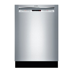 Bosch 300 24-in Stainless Steel Recessed Handle Dishwasher with Third Rack