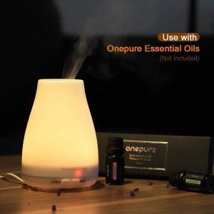 InnoGear 2nd Version Aromatherapy Essential Oil Diffuser Ultrasonic Diffusers Cool Mist Humidifier with 7 Colors LED Lights and Waterless Auto Shut-off for Home Office Bedroom Room