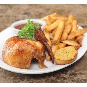 限每周一至周四下午3点前,8月19日截止Swiss Chalet 连锁烤鸡餐厅 招牌菜Quarter Chicken特价$8.99