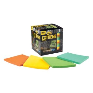 $4.99Post-it Extreme 3-in x Green, Yellow, Orange, Mint Sticky Notes 12-Pack