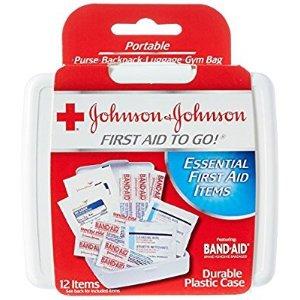 $0.99Johnson & Johnson 便携急救箱 12件套