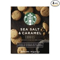 Starbucks 搭配咖啡小饼干 海盐焦糖口味 4盒装
