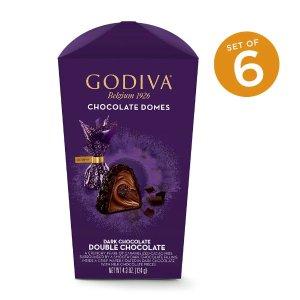 Godiva黑巧克力酱夹心黑巧克力 6盒装