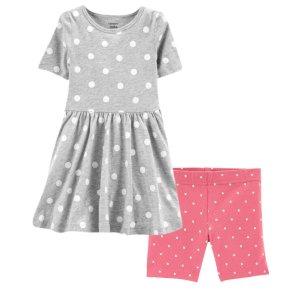 Carter's2-Piece Dress & Bike Short Set