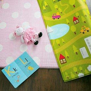 额外立减$10 大号游戏垫$100+起Baby Care 高颜值大尺寸宝宝双面爬行垫、安全围栏特卖