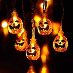 折后仅€10.19 原价€14.99Qedertek 万圣节LED装饰灯串 20个小南瓜鬼脸