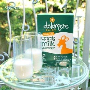 无门槛9折,乳糖不耐受适用Delamere 全脂羊奶粉 营养更全面、保质期更长久