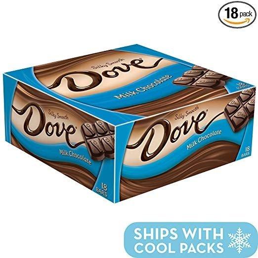 德芙牛奶巧克力整盒装 1.44oz 共18条