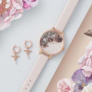 低至7折+额外85折 £46收蕾丝精雕手表Olivia Burton英伦少女风手表折上折 近期好价