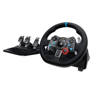 Logitech G29 & G920 Dual-Motor Feedback Driving Force Racing Wheel with Responsive Pedals