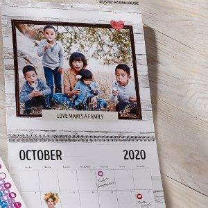 FreeShutterfly 8x11 wall calendar