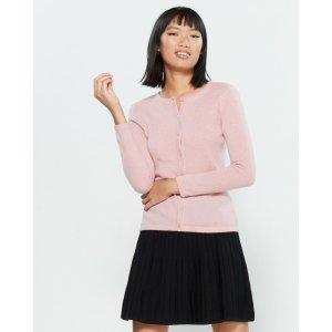 Petite 粉色羊绒衫