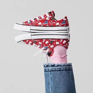 $32.50(原价$65)+包邮  码全Dealmoon独家:Converse x Hello Kitty 联名新款帆布鞋 萌到爆
