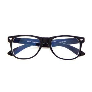 CyxusKids/Teens Blue Light Blocking Computer glasses for Anti Eyestrain UV400, Classic Black Frame Eyewear(Five Colors Available)