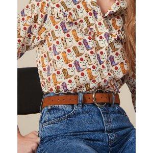 Sandro宋妍霏同款可爱印花衬衫