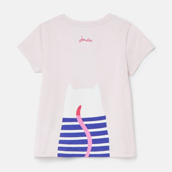 儿童正反猫咪T恤