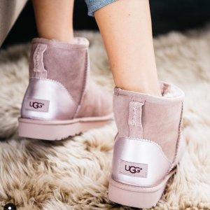 低至4折+额外8折UGG官网 精选雪地靴、毛绒拖鞋热卖 温暖过冬