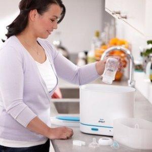 6.5折起收奶瓶、消毒配件飞利浦 新安怡 3合1奶瓶消毒锅 也能洗小内衣 全面抗菌消毒