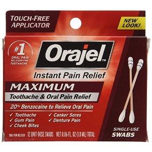 嘴部疼痛缓释棉签 12支装