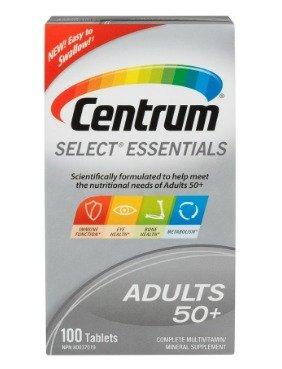 $9.47(原价$19.99)送爸妈健康好礼~善存Centrum Select Essentials 50+复合维生素,100粒