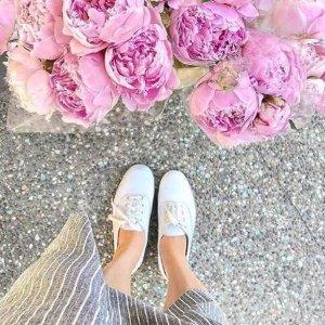 额外7.5折 收布灵布灵丝带款Keds 女鞋热卖 霉霉也爱的舒服小白鞋