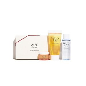 Shiseido专为年轻皮肤设计 保湿滋润waso 护肤套装