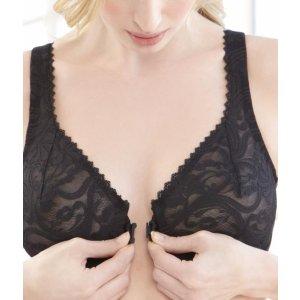 Glamorise Front Closing Stretch Lace Wonderwire® Bra G-9245