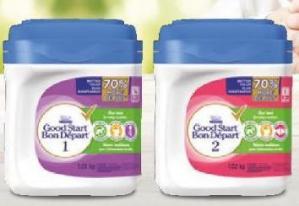$24.67(原价$31.88)雀巢NESTLÉ GOOD START 含DHA&ARA益生菌配方奶粉(600克) 1段/2段