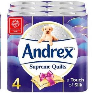 Andrex £0.44/卷+赠3包湿巾定价优势:Groupon 精选Andrex、Kleenex 卫生纸、湿巾热促