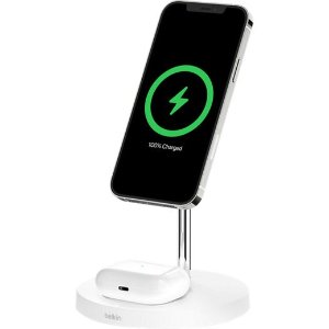 BelkinMagSafe 2合1 iPhone 12 系列专用无线充电支架