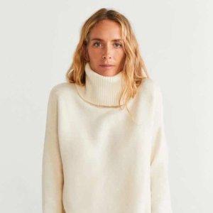 价格亲民 设计感十足Mango大促3折起 封面同款高领毛衣€12.99