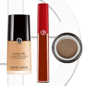Giorgio ArmaniLS粉底液+唇釉+美眸膏
