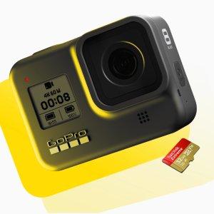 $299 送免费32GB 高速SD卡GoPro HERO8 Black 运动相机 官网立减$100