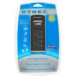 Dynex 2-Outlet/1-USB Surge Protector