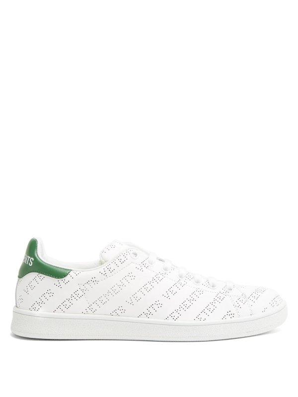Low-top绿尾鞋