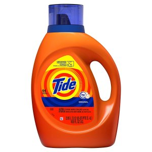 2 for $17.74Tide Laundry Detergent Liquid, Original Scent, HE Turbo Clean, 100 Fl Oz