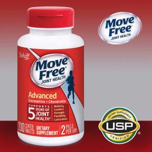 $20.99 (原价$25.99)Move Free 红瓶维骨力 200粒 保护关节健康