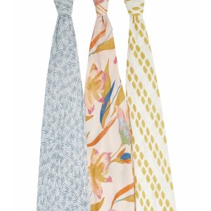 ADEN + ANAIS纱布包巾3条装