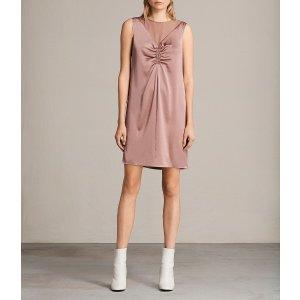 ALLSANTS设计感脏粉连衣裙