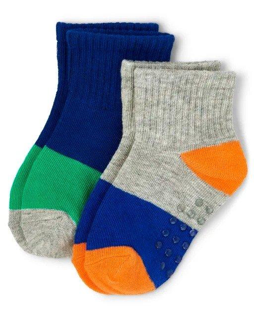 男童拼色短袜