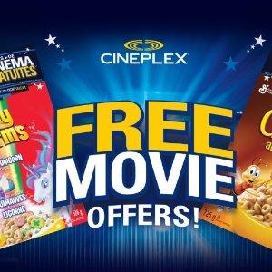 免费看电影General Mills 大促销 购买早餐麦片送Cineplex 电影票