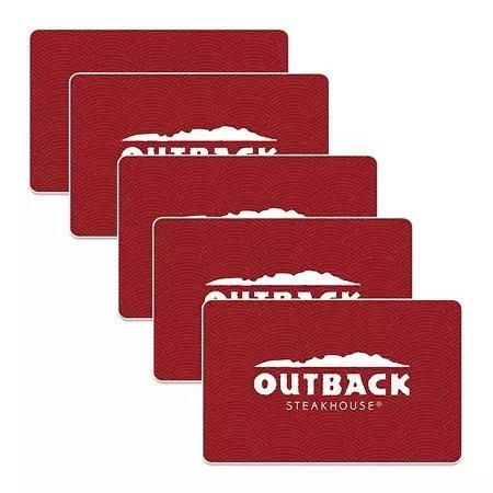 Outback Steakhouse 餐厅$25 礼卡 5张 (总值$125)
