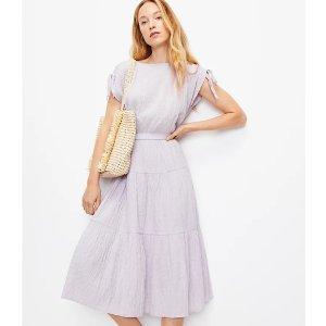 LOFT香芋紫半身裙