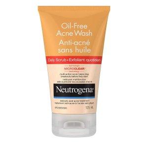 $7.57(原价$9.99) 温和祛角质Neutrogena 露得清水杨酸祛痘磨砂膏 125ml 特卖