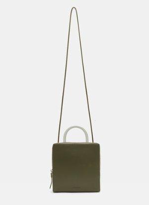 Building Block Square Box Bag in Green | LN-CC