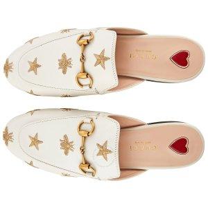 Gucci满$150+额外减$10红心穆勒鞋