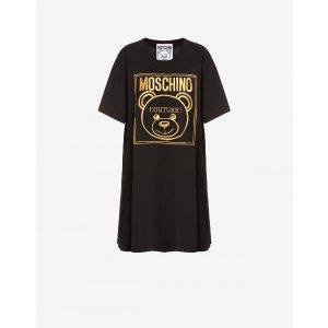 Moschino黑色小熊T恤裙