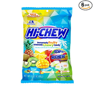 $9.86 Hi-Chew Sensationally Chewy Japanese Fruit Candy, Tropical Mix, 3.53 Ounce (Pack of 6)